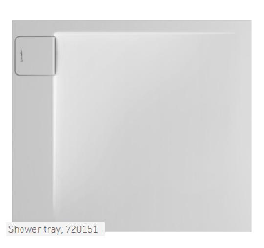 Duravit Shower Tray at Leptos Bathroom Designs Cyprus